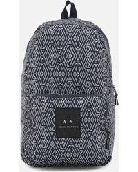 Armani Exchange - Printed Backpack - Lyst