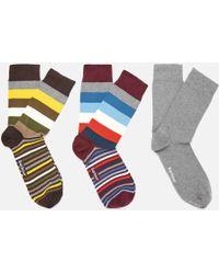 Barbour - Heywood Stripe Sock Gift Box - Lyst