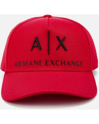 be8a9ea09c1 Armani Exchange Logo Cap in Blue for Men - Lyst