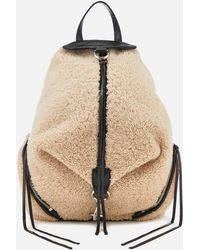 Rebecca Minkoff - Shearling Julian Side Zip Backpack - Lyst