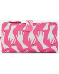 Lulu Guinness - Hug Print Double Make Up Bag - Lyst