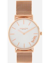 COACH - Perry Link Metal Watch - Lyst