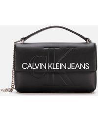 Calvin Klein - Monogram Cross Body Bag - Lyst
