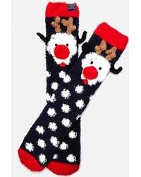 Joules - Festive Fluffy Character Socks - Lyst