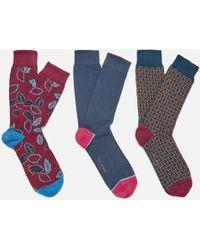 Ted Baker - Bell Three Pack Socks - Lyst