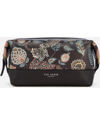 Ted Baker - Clubb Printed Leather Wash Bag - Lyst