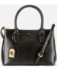 Lauren by Ralph Lauren - Newbury Double Zipper Shopper Bag - Lyst