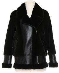 Blancha Fur Coat - Black