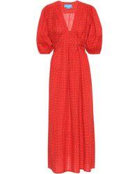 M.i.h Jeans Kleid Avery aus Baumwolle und Leinen