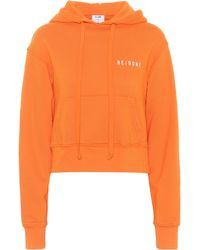 RE/DONE - Reverse Weave Cotton Hoodie - Lyst