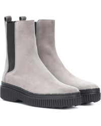 Tod's - Suede Ankle Boots - Lyst