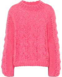 Ganni - Julliard Mohair And Wool Jumper - Lyst