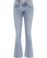 RE/DONE - Mid-Rise Kick Flare Jeans aus Baumwolle - Lyst