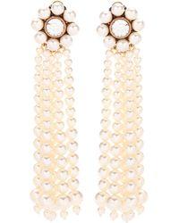 Stella McCartney - Faux Pearl Clip-on Earrings - Lyst