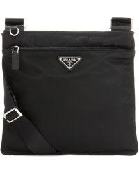 Prada - Twill Crossbody Bag - Lyst