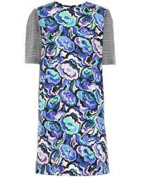Emilio Pucci - Printed Silk-blend Minidress - Lyst