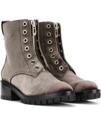 3.1 Phillip Lim - Ankle Boots Hayett aus Samt - Lyst