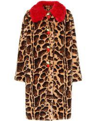 Dolce & Gabbana - Eco Fur Coat - Lyst
