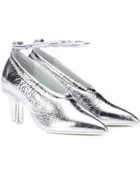 Jil Sander - Metallic Leather Court Shoes - Lyst