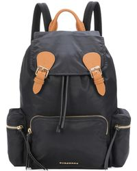 Burberry - The Large Leather-trimmed Backpack - Lyst