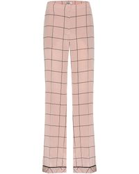 Valentino - Silk Printed Trousers - Lyst