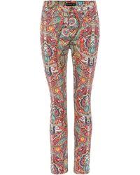 Etro - Paisley-print Cotton Trousers - Lyst