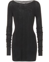 Rick Owens - Knitted Wool Minidress - Lyst