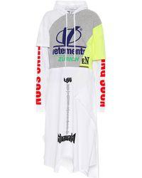 Vetements - Cotton Jersey Hoodie Dress - Lyst