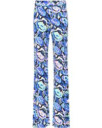 Emilio Pucci - Printed Flared Trousers - Lyst