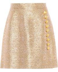 Dolce & Gabbana - Brocade Miniskirt - Lyst