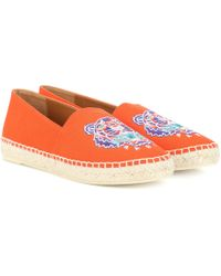 KENZO - Embroidered Espadrilles - Lyst