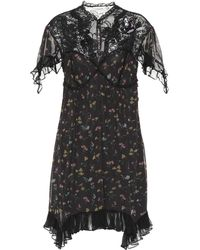 COACH - Lace-yoke Floral Dress - Lyst