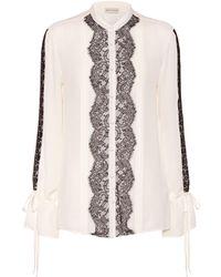 Etro - Bahidora Silk And Lace Shirt - Lyst