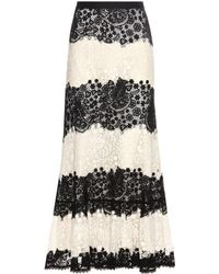 RED Valentino - Lace Skirt - Lyst