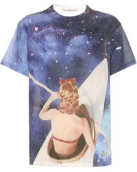 Golden Goose Deluxe Brand - Galaxy Printed Cotton T-shirt - Lyst