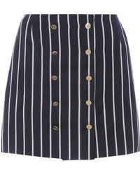 Thom Browne - Striped Wool And Cotton Miniskirt - Lyst