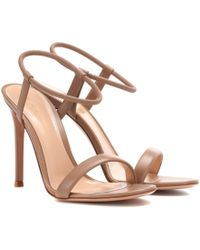 Gianvito Rossi - Jamie Leather Sandals - Lyst