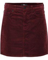 7 For All Mankind - Corduroy Miniskirt - Lyst