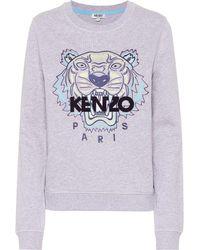 4bc522e4 KENZO - Tiger Logo Cotton Sweatshirt - Lyst