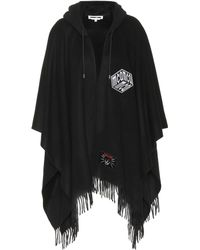 McQ - Hooded Wool Cape - Lyst