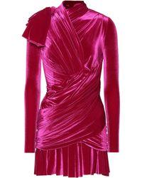Balenciaga - Velvet Minidress - Lyst