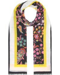 Etro - Floral-printed Cashmere Scarf - Lyst