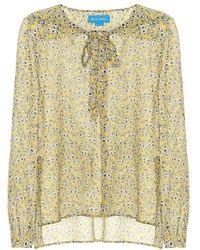 M.i.h Jeans - Blusa Alma a stampa floreale in seta - Lyst