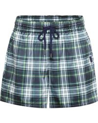 PUMA - Plaid Satin Shorts - Lyst