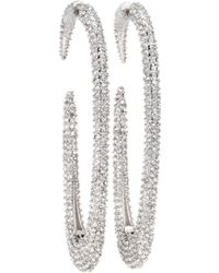 Saint Laurent - Crystal Hoop Earrings - Lyst