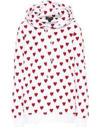 Burberry - Heart Print Hoodie - Lyst
