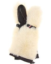 Moncler Grenoble - Fur And Leather Ski Mittens - Lyst