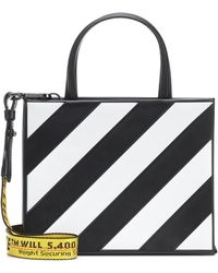 Off-White c/o Virgil Abloh - Diag Small Box Bag In Black And White Calfskin - Lyst