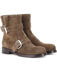 Jimmy Choo - Blyss Suede Ankle Boots - Lyst