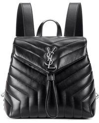 Saint Laurent - Small Loulou Monogram Backpack - Lyst
